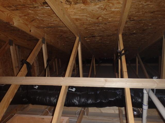 New Attic Insulation In Gambrills Md Attic Is Completely Empty