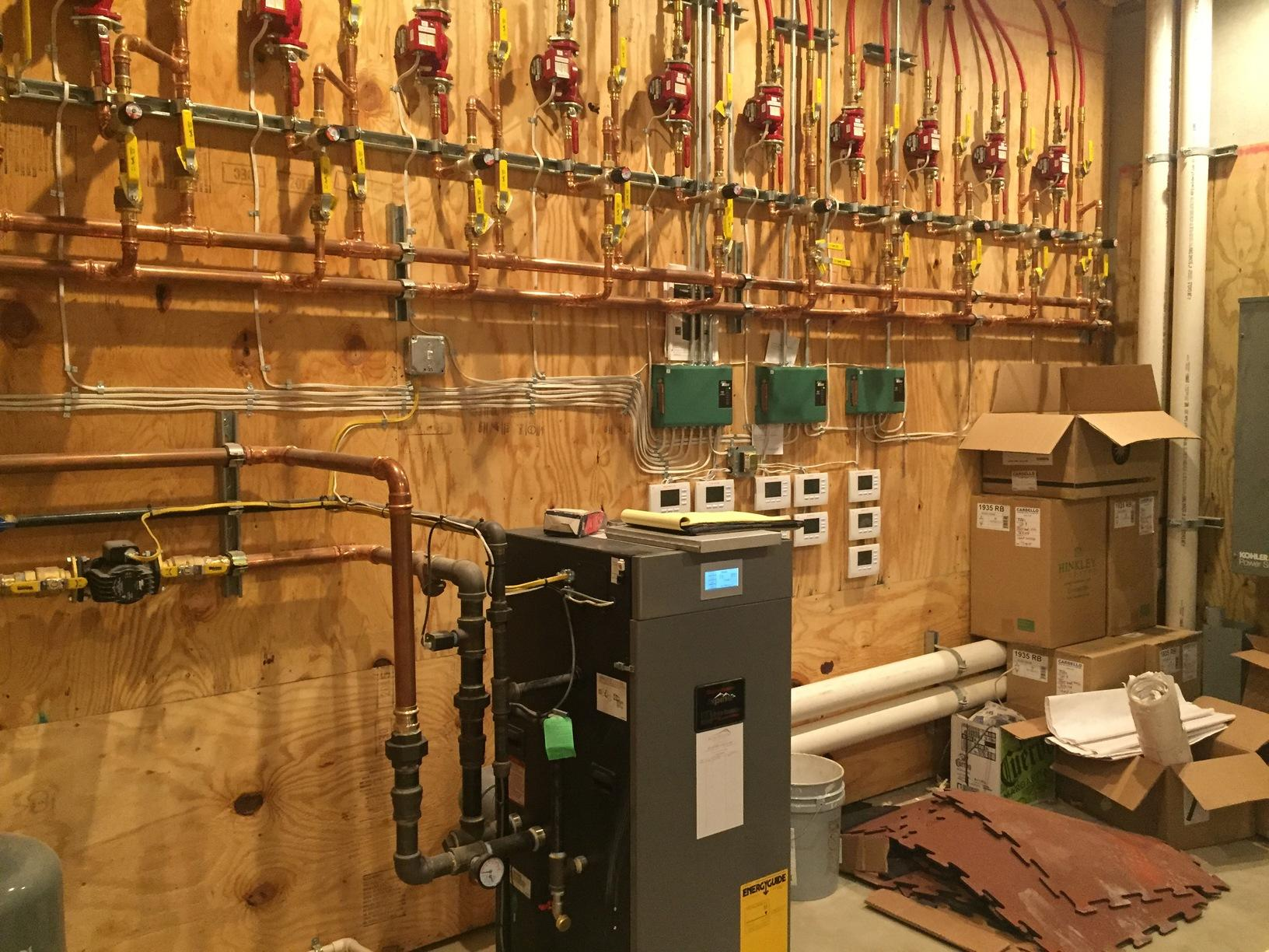 Zoning system for infloor radiant heat, Gibsonia PA