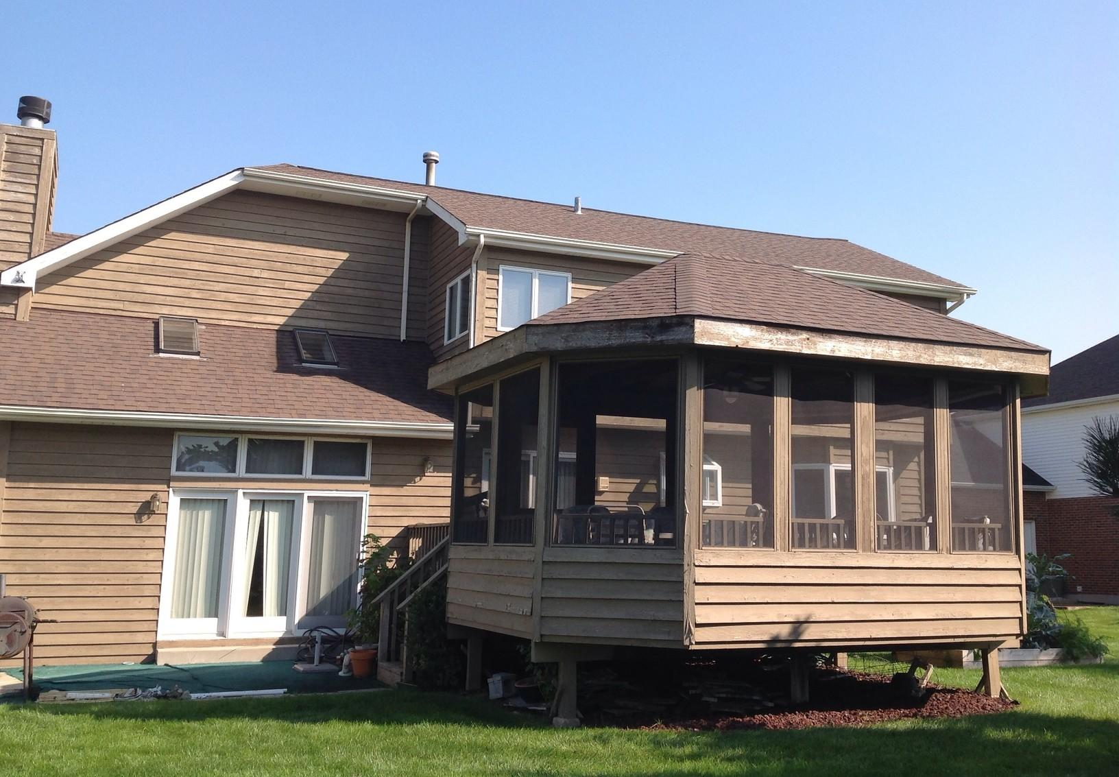 Rear of the home