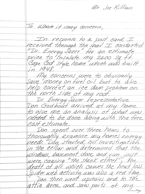 Joe K. Testimonial Part One