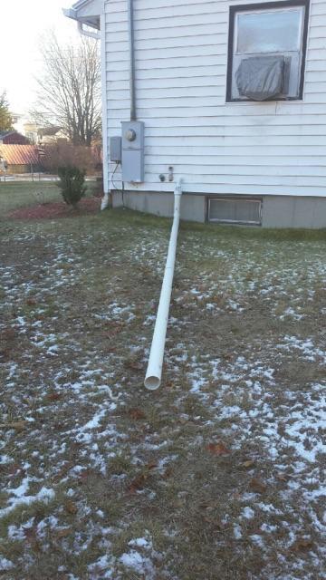 Discharge Line in North Smithfield, Rhode Island