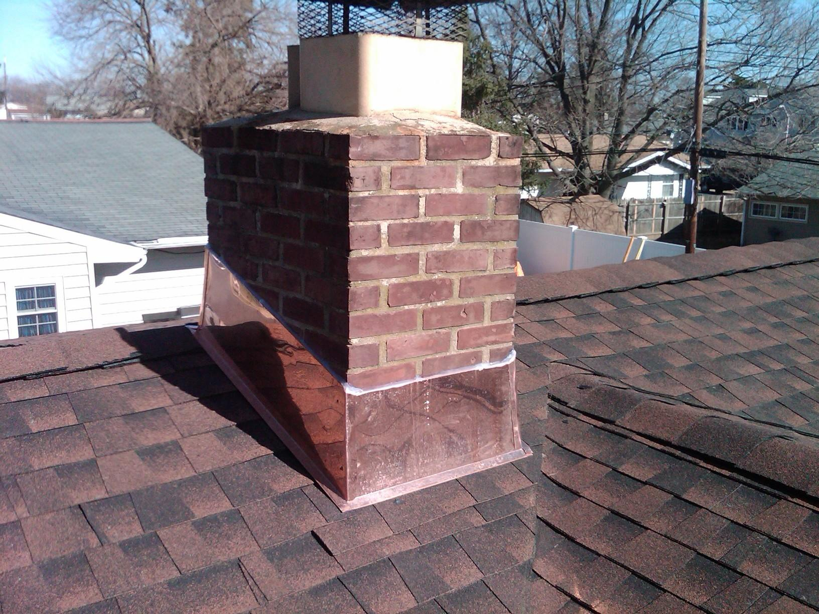 Asphalt roof with a copper chimney in Berkeley Heights, NJ