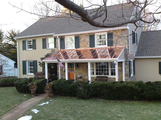 Cherry Hill, NJ Copper Porch Roof Installation