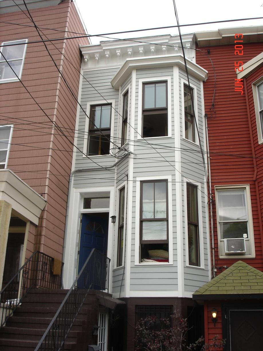 New Townhouse Siding Installation in Jersey City
