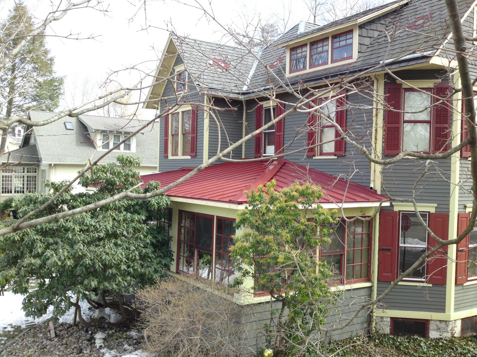 Metal Porch Roof Installation in Haddonfield, NJ