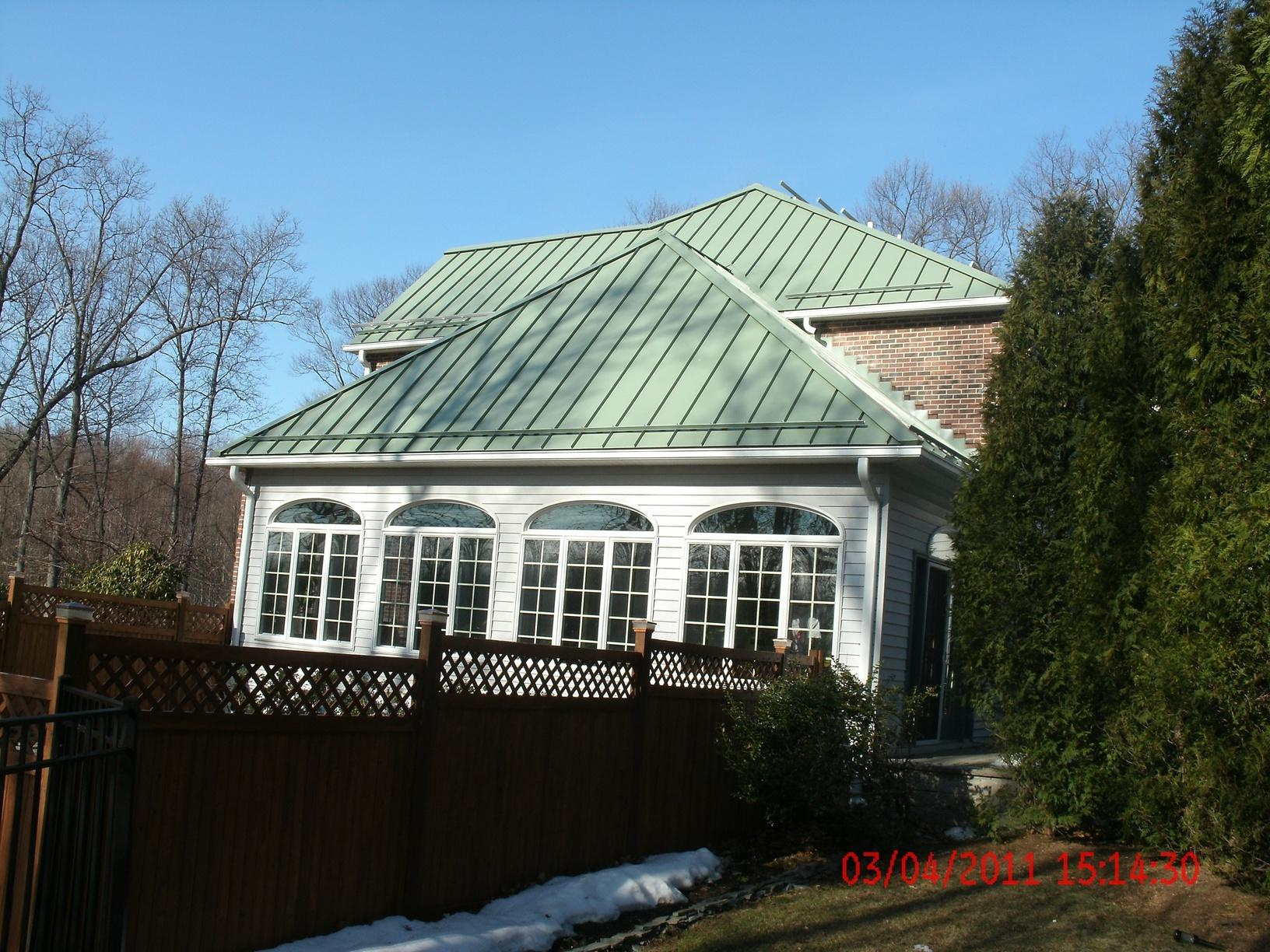 Chester, NJ Standing Seam Aged Copper Roof