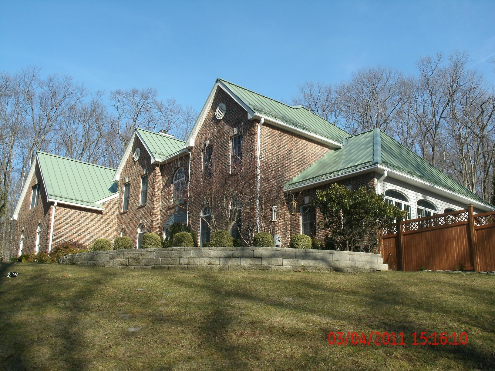 Aged Copper Metal Roof Replacement in Chester, NJ