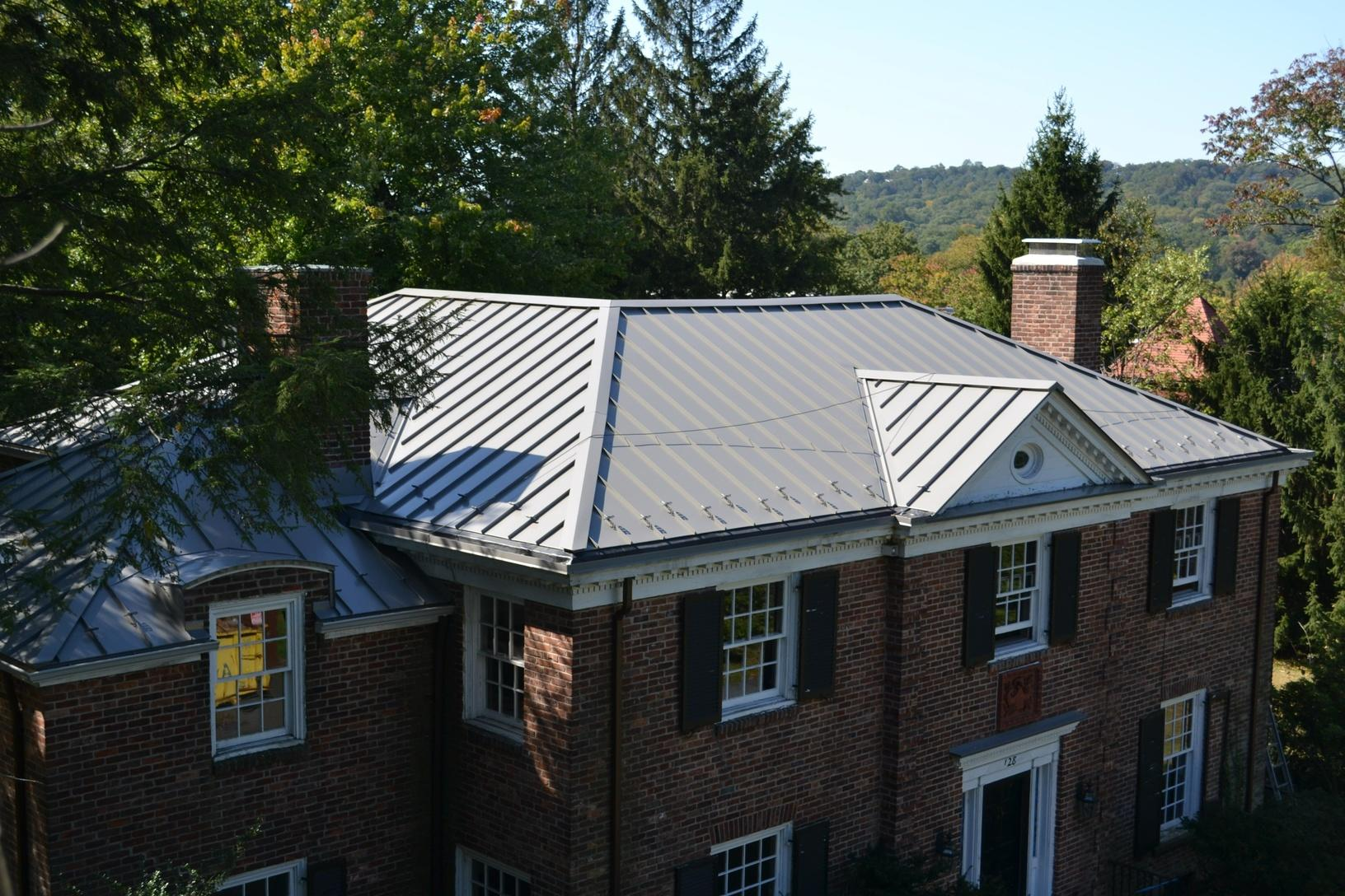 South Orange, NJ Metal Roof Replacement in Slate Gray