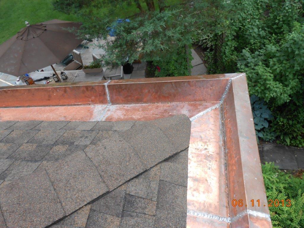 Glen Ridge, NJ Copper Yankee Gutter Installation