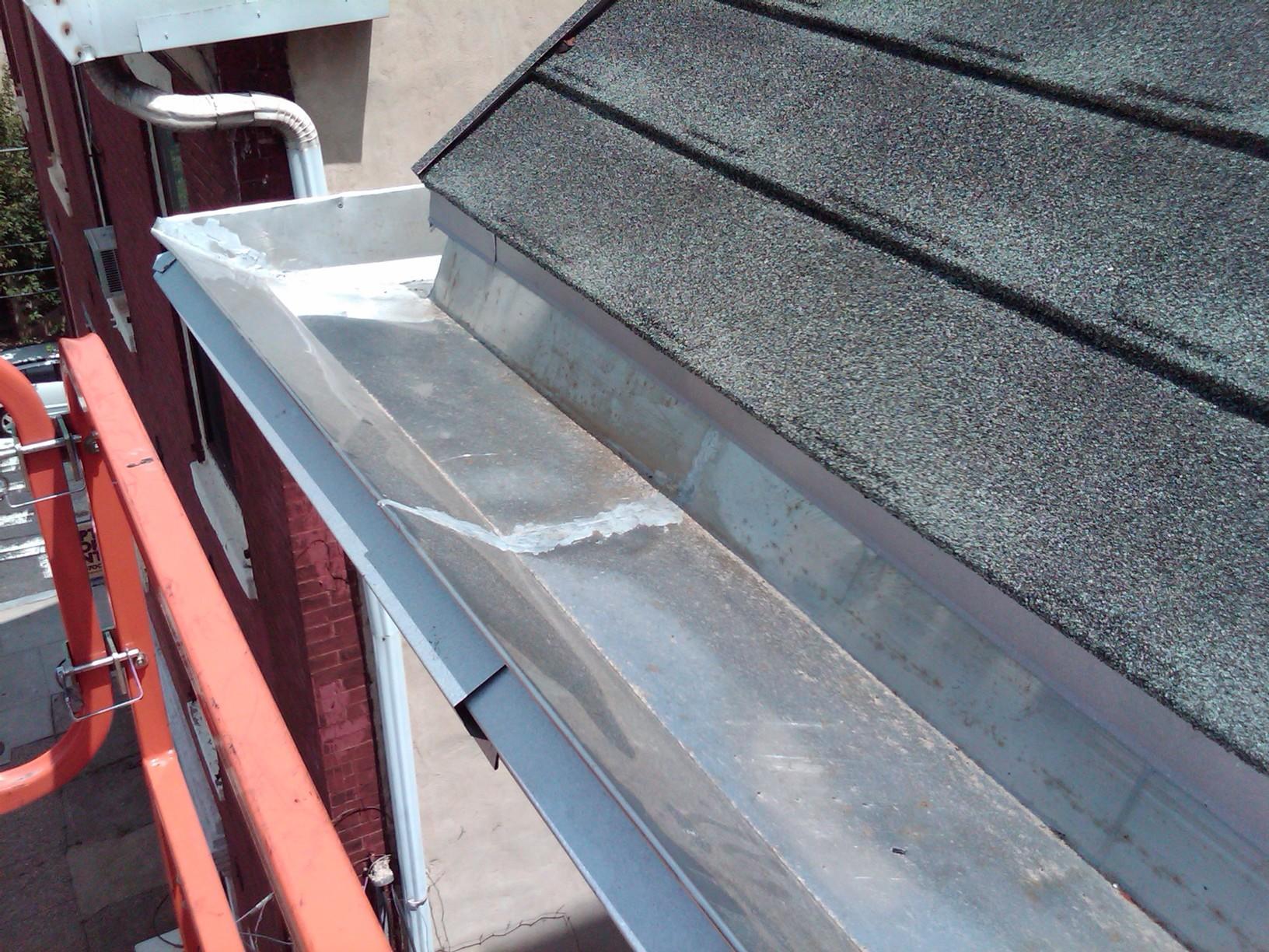 Philadelphia Stainless Steel Yankee Gutter Installed