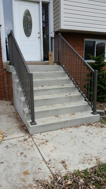Bronze Tuscany Aluminum Railing Installation in Monroeville, Pa