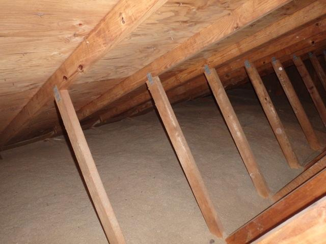 Attic Air Sealed In Crownsville Md Attic Without Any Air Seal Work