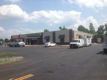 Exterior Electrical Work for the Dollar General in Farmington, NY