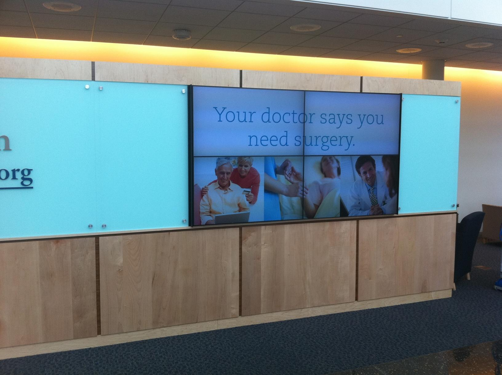 Mid State Video Medical Wall Install
