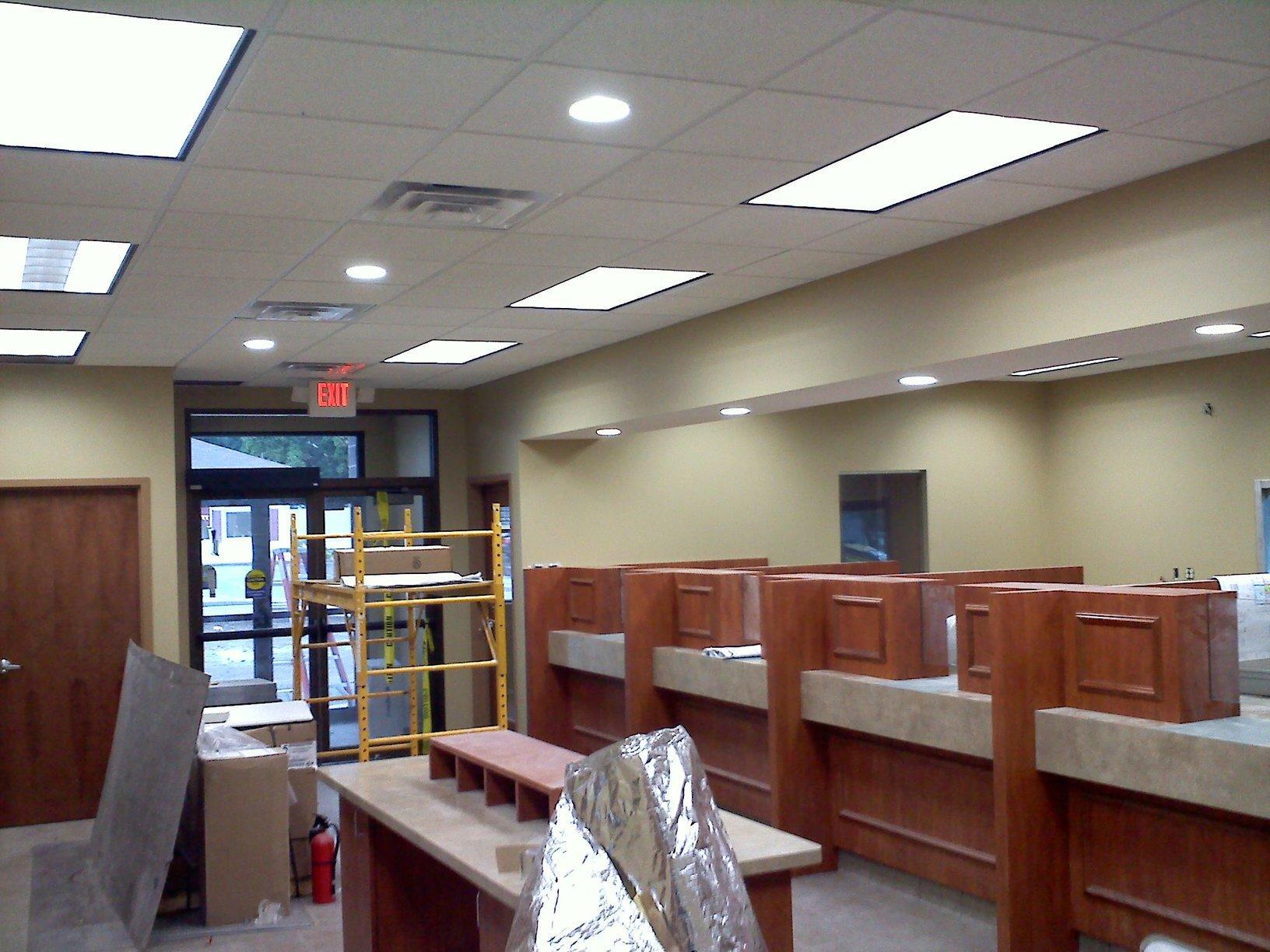 Electric installation at Community Bank in Palmyra, NY