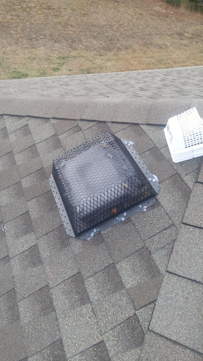 Vent cover installed in Port Reading, New Jersey