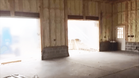 Double garage door entrances