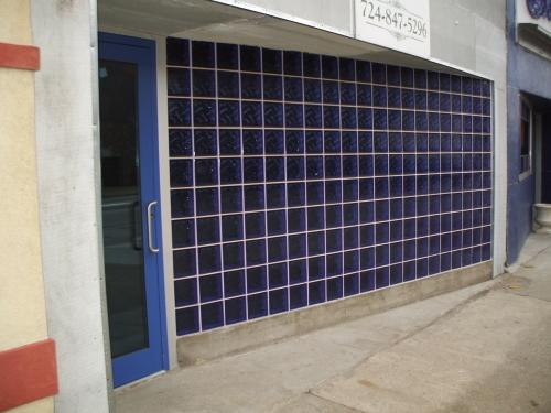 Glass Block Wall Installed for Blue Oyster Bar in New Brighton