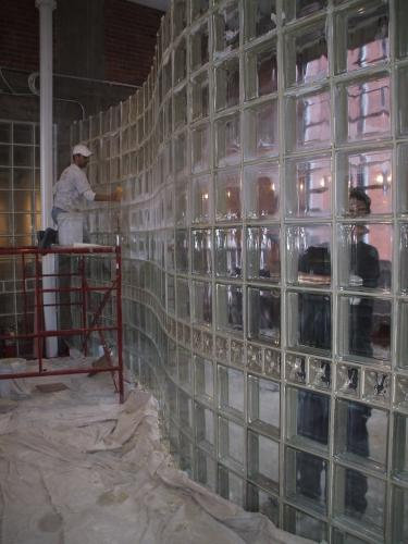 Commercial Glass Block Installation for Pittsburgh, PA Office