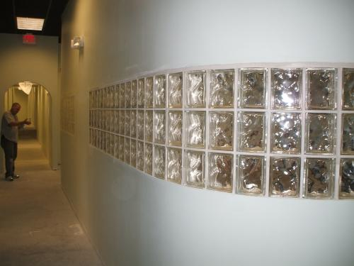 Glass Block Installation for Richmond Dentist Office