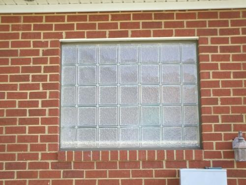 Outside View of Bathroom Window in Richmond, VA