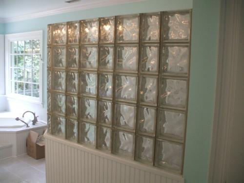Glass Block Shower in Fredericksburg, VA