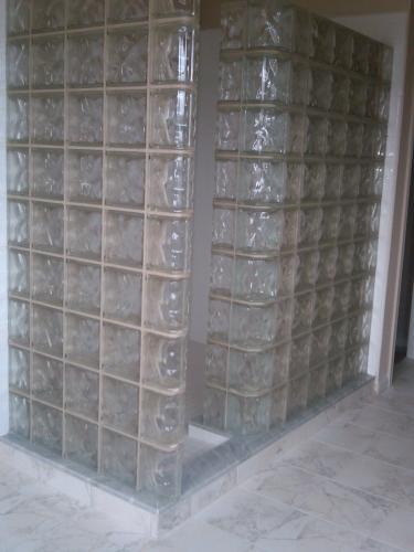 Philadelphia, PA Step-In Shower - Glass Block Walls Installed