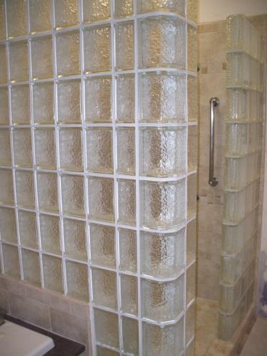 Glass Block Shower in Richmond, VA