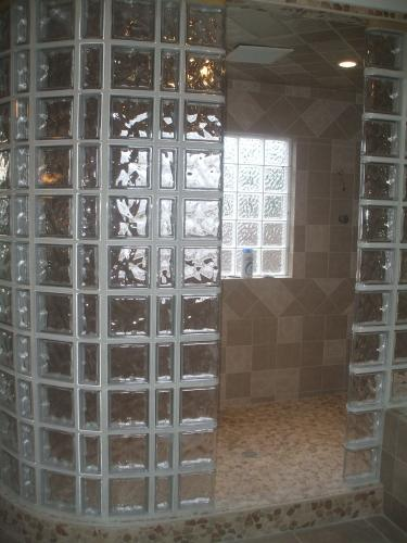 Glass Block Shower Window and Walls