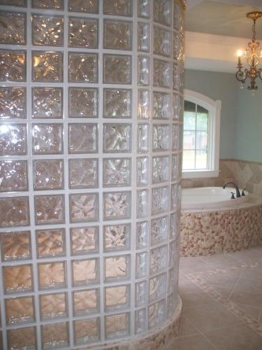 Beautiful Glass Block Shower in Richmond, VA