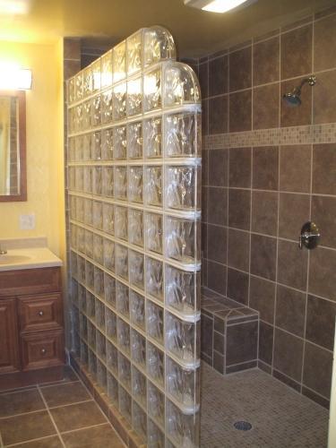 Glass Block Shower in Hagerstown, MD