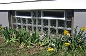 Gorgeous Glass Block Basement Window