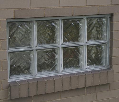 Glass Block Basement Window Installation