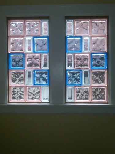Beautifully Colored Block Glass Window