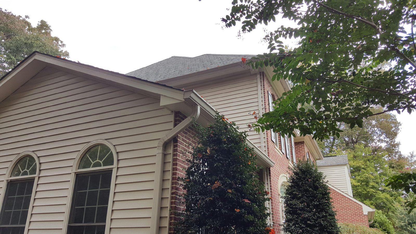 The Finished Bethesda Gutter Guard Installation