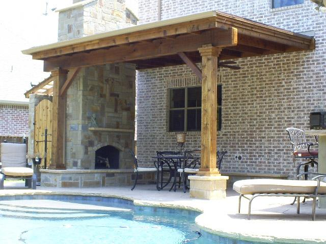 Patio Cover with Fireplace