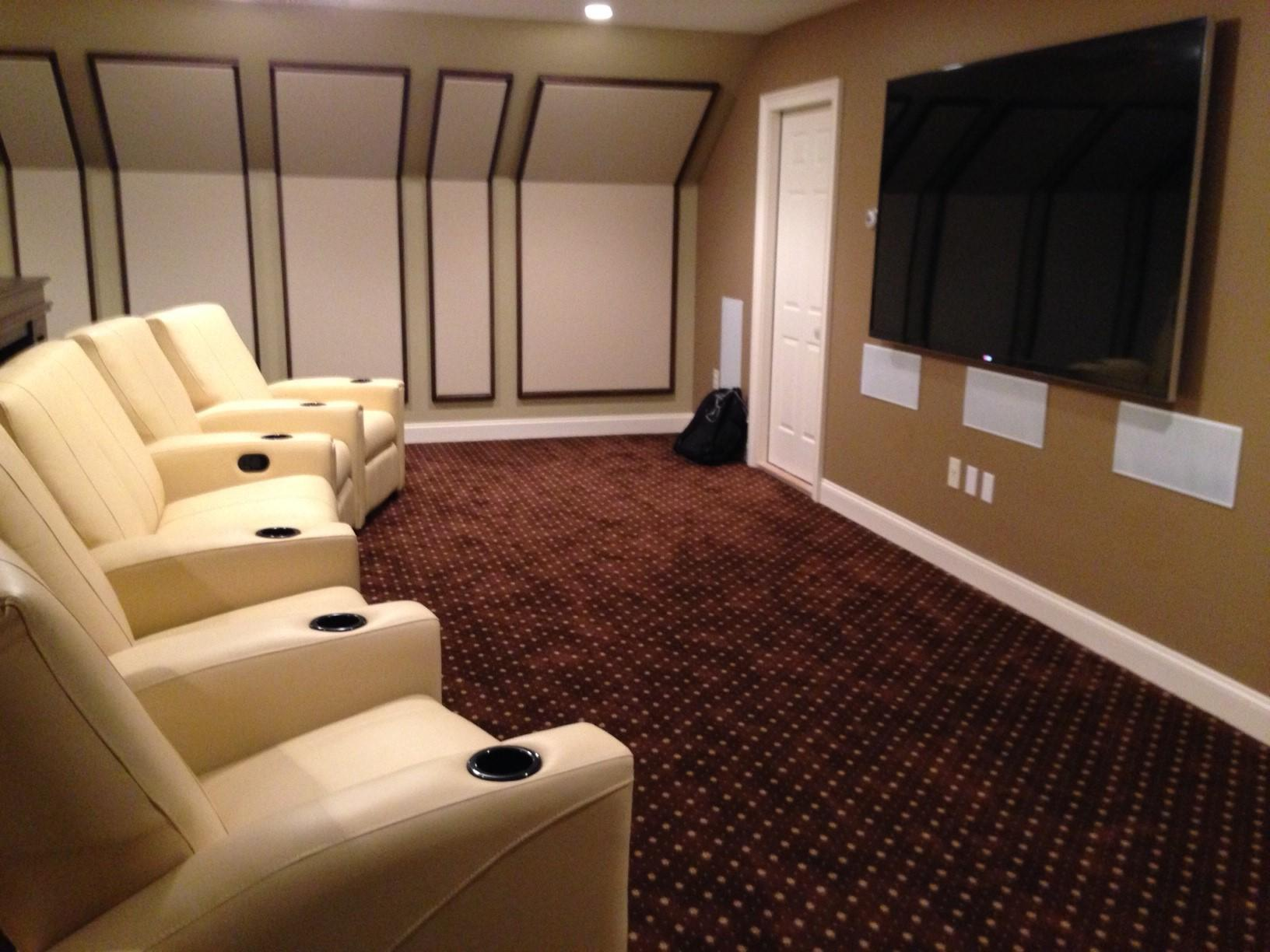 Side view of Custom Home Theater