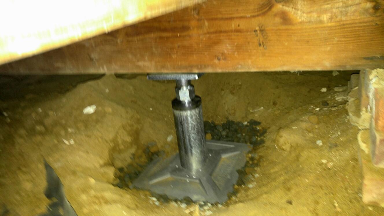 Installed Smart Jack under beam