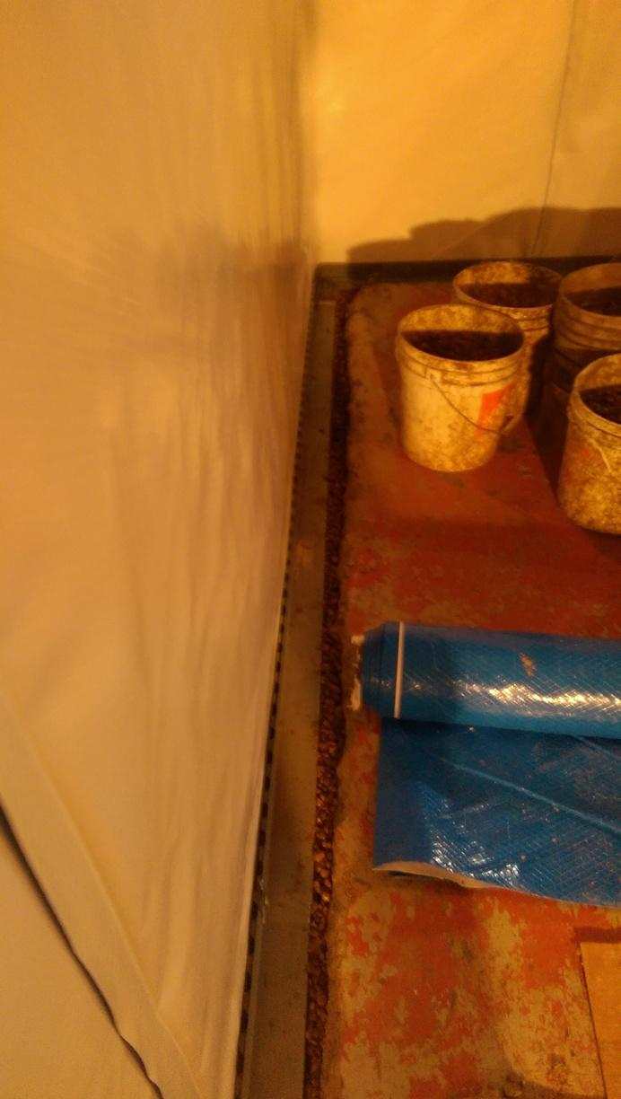 WaterGuard piping and CleanSpace Wall wrap install