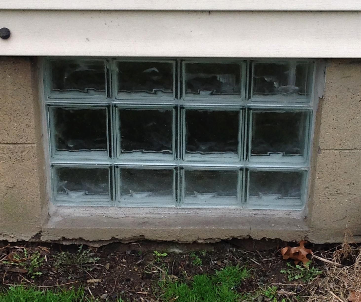 Glass Block Basement Window Installation in Beaver, Pa