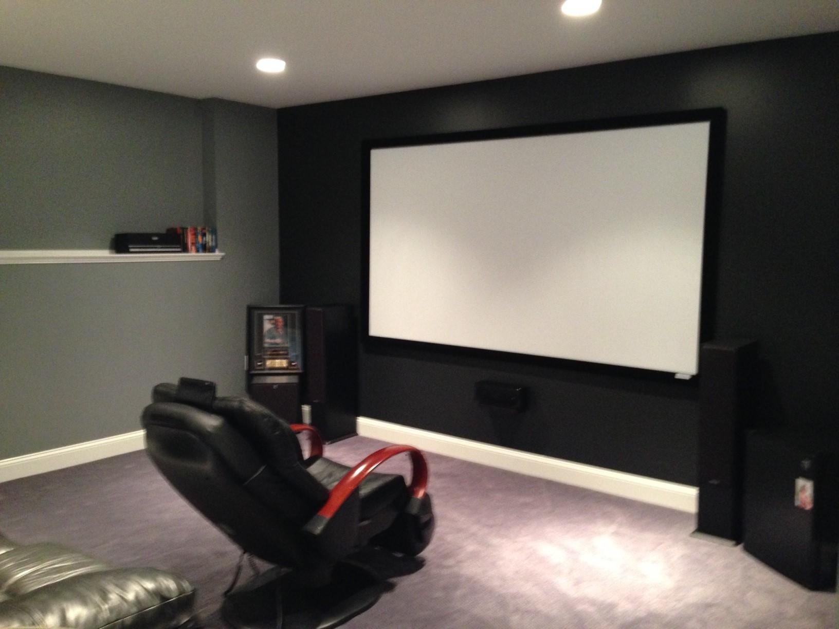 Home theater room installation with everything you need.