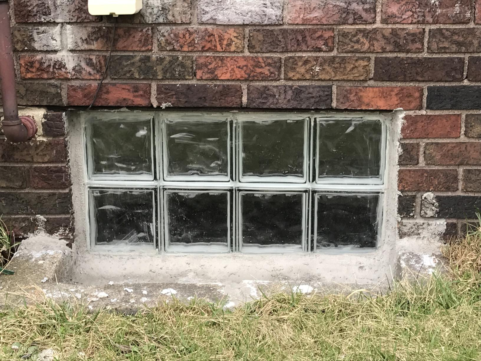 Solid Wave Patterned Basement Window in Monaca, PA