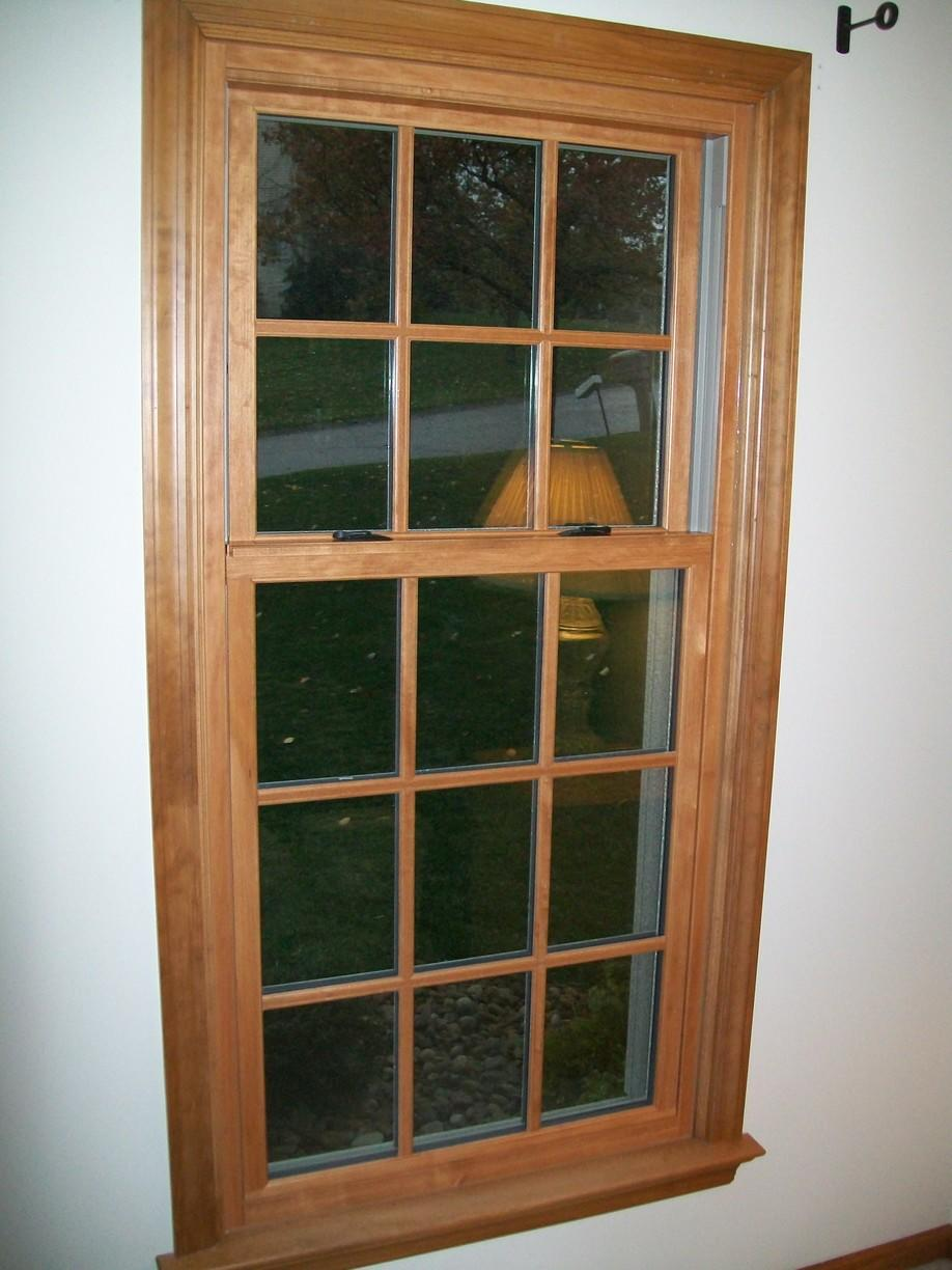 Interior Wood Finished Double Hung Window