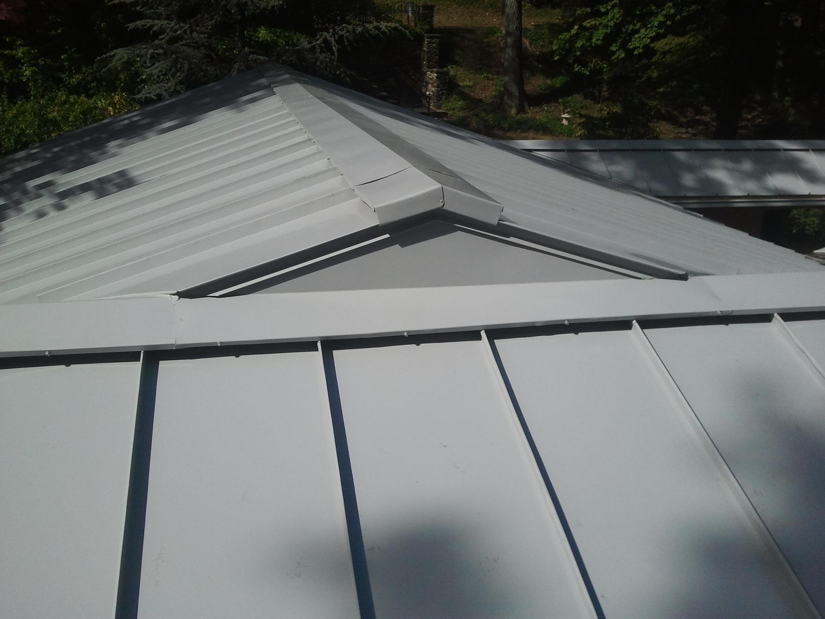 Contemporary Standing Seam Metal Roof Montclair NJ - Close Up