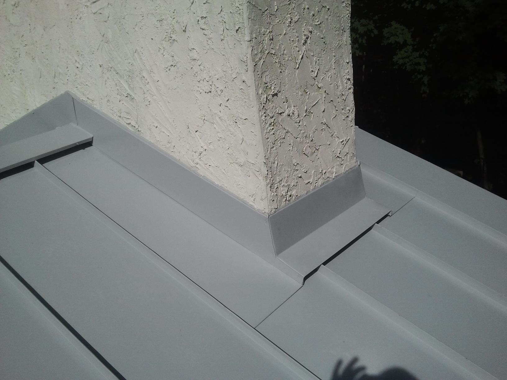 Contemporary Standing Seam Metal Roof Montclair NJ - Chimney Flashing