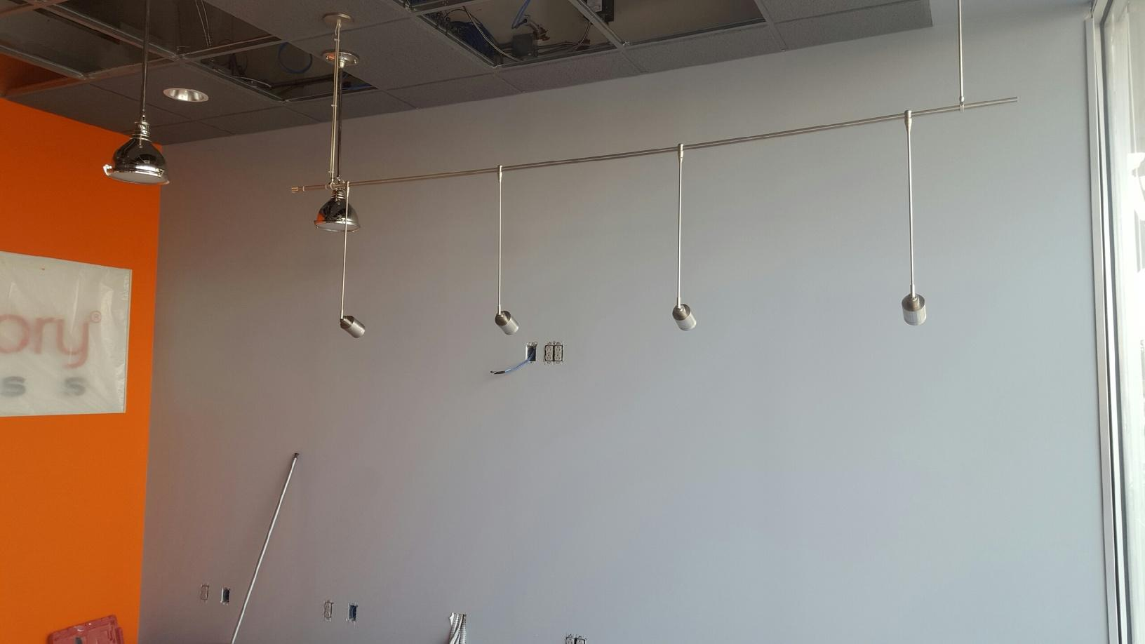 Some of the light fixture installed in Victor, NY