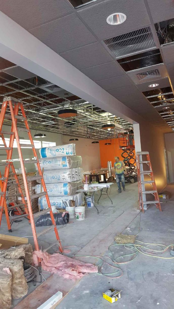 Progress during the electrical install in Victor