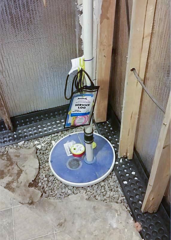 Sump Pump System During Installation