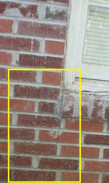 Crack in Brick Foundation Wall. Yemassee, SC