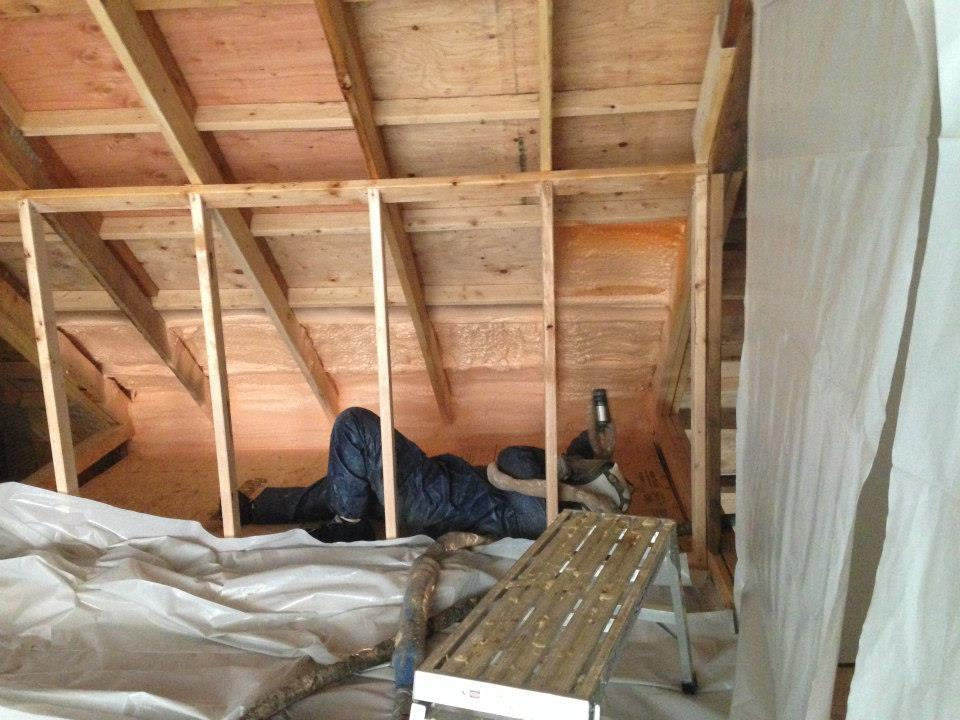 Spray Foam in addition of residential home